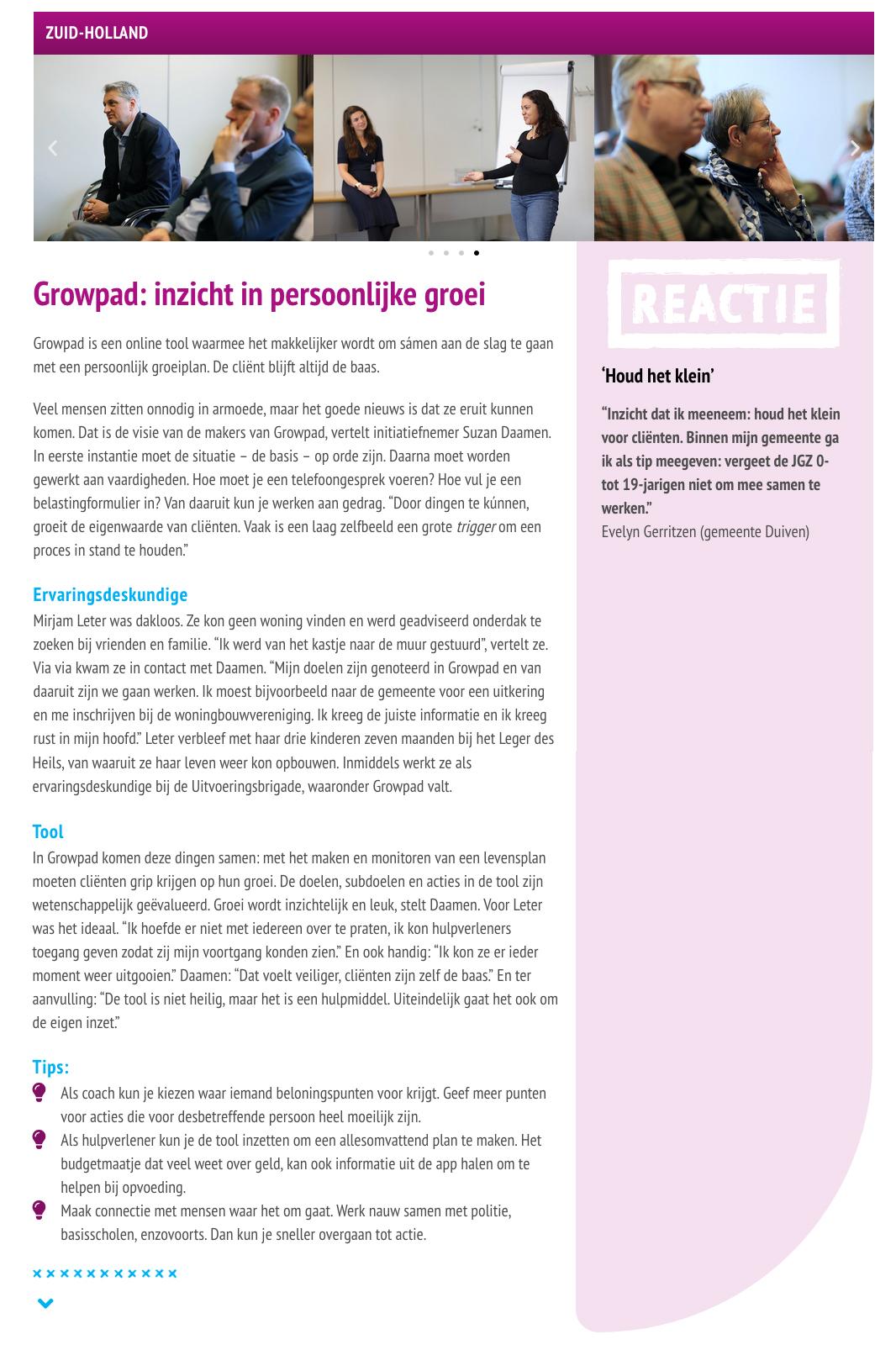 GrowPad bij congres Doen Wat Werkt op 6 maart 2020 in Zwolle